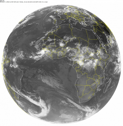 Última imagen Satélite Meteosat Global