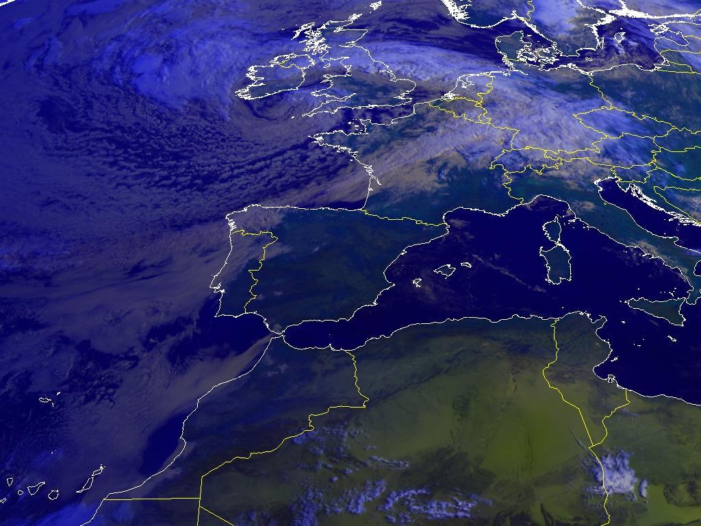 Última imagen Satélite Meteosat Canal Visible